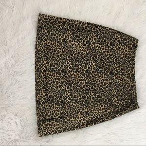 Dresses & Skirts - Franco Mirabelli velvet leopard print mini skirt